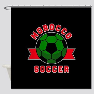 Morocco Soccer Shower Curtain