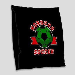 Morocco Soccer Burlap Throw Pillow