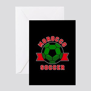 Morocco Soccer Greeting Card