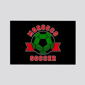 Morocco Soccer Rectangle Magnet