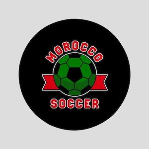 """Morocco Soccer 3.5"""" Button"""
