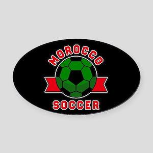 Morocco Soccer Oval Car Magnet