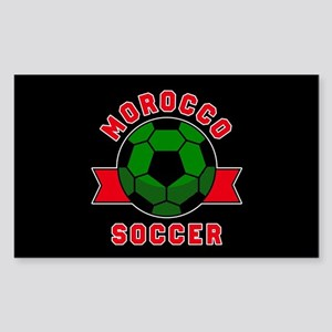 Morocco Soccer Sticker (Rectangle)