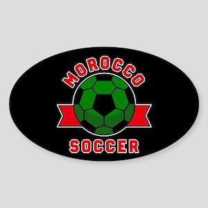 Morocco Soccer Sticker (Oval)