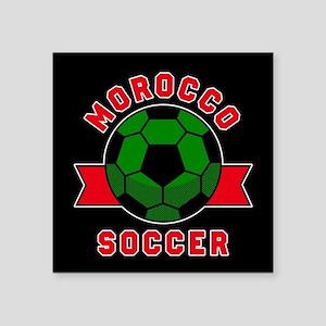 """Morocco Soccer Square Sticker 3"""" x 3"""""""