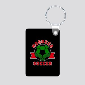 Morocco Soccer Aluminum Photo Keychain