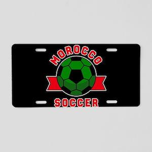 Morocco Soccer Aluminum License Plate