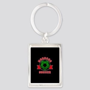 Morocco Soccer Portrait Keychain