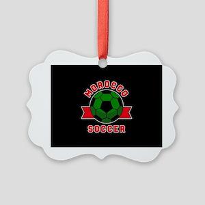 Morocco Soccer Picture Ornament