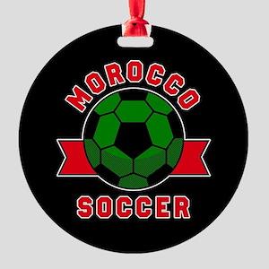 Morocco Soccer Round Ornament