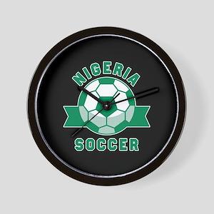 Nigeria Soccer Wall Clock