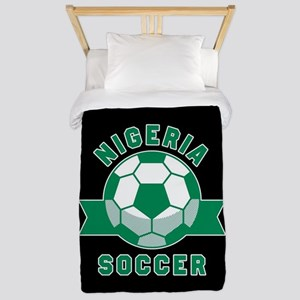 Nigeria Soccer Twin Duvet Cover