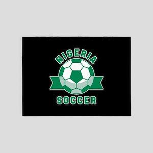 Nigeria Soccer 5'x7'Area Rug