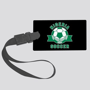 Nigeria Soccer Large Luggage Tag