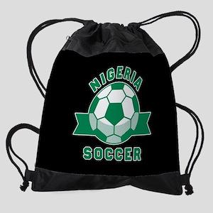 Nigeria Soccer Drawstring Bag