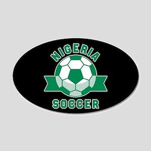 Nigeria Soccer 20x12 Oval Wall Decal