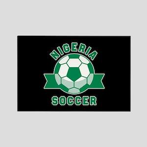 Nigeria Soccer Rectangle Magnet