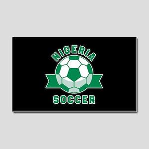 Nigeria Soccer Car Magnet 20 x 12