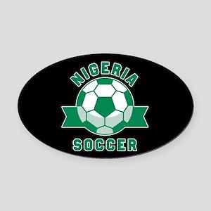 Nigeria Soccer Oval Car Magnet