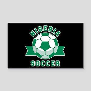 Nigeria Soccer Rectangle Car Magnet