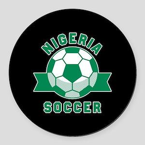 Nigeria Soccer Round Car Magnet