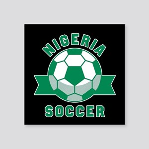 "Nigeria Soccer Square Sticker 3"" x 3"""