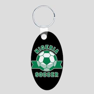 Nigeria Soccer Aluminum Oval Keychain