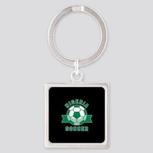 Nigeria Soccer Square Keychain