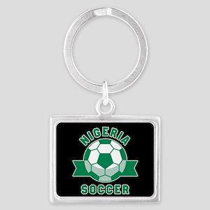 Nigeria Soccer Landscape Keychain