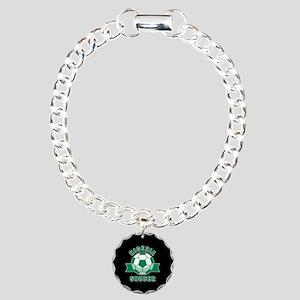 Nigeria Soccer Charm Bracelet, One Charm