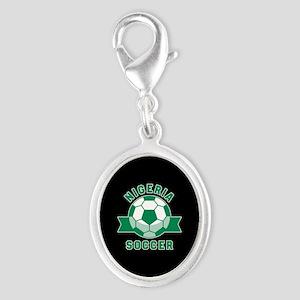 Nigeria Soccer Silver Oval Charm