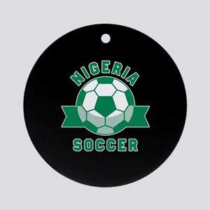 Nigeria Soccer Round Ornament