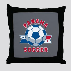 Panama Soccer Throw Pillow