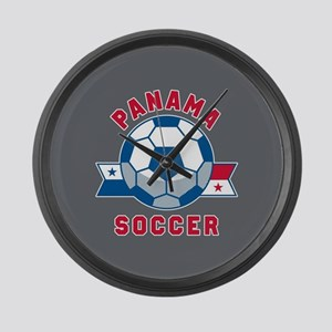 Panama Soccer Large Wall Clock