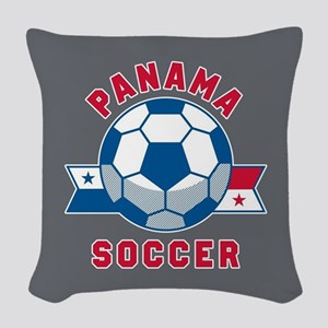 Panama Soccer Woven Throw Pillow