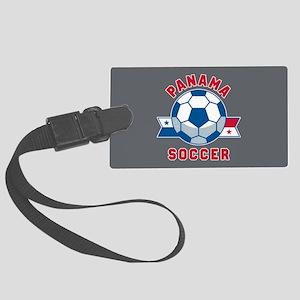 Panama Soccer Large Luggage Tag