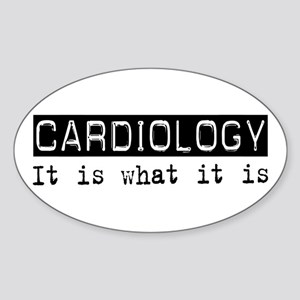 Cardiology Is Oval Sticker