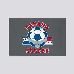 Panama Soccer Rectangle Magnet