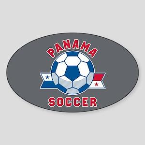 Panama Soccer Sticker (Oval)