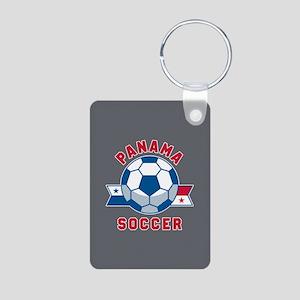 Panama Soccer Aluminum Photo Keychain