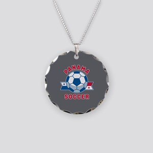 Panama Soccer Necklace Circle Charm