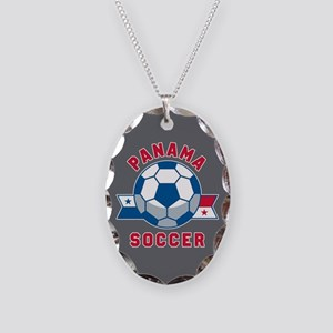 Panama Soccer Necklace Oval Charm
