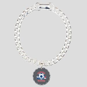 Panama Soccer Charm Bracelet, One Charm