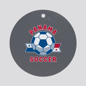 Panama Soccer Round Ornament