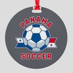 Panama Soccer Round Ornament
