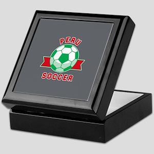 Peru Soccer Keepsake Box