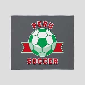 Peru Soccer Throw Blanket