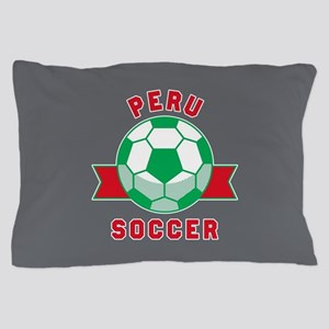 Peru Soccer Pillow Case
