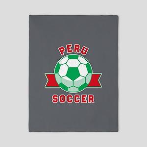 Peru Soccer Twin Duvet Cover