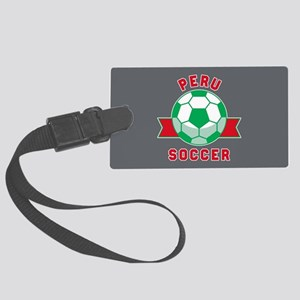 Peru Soccer Large Luggage Tag